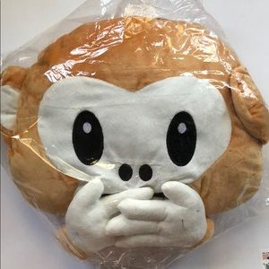 Other - Monkey Don't Speak Emoji Pillow NEW